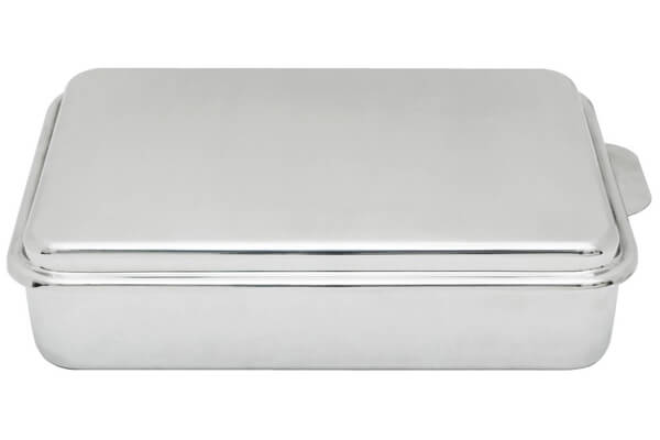 Lindy's Stainless Steel Covered Cake Pan, Silver ($40.08)