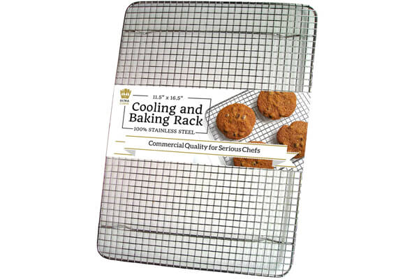 UltraCuisine 100% Stainless Steel Wire Cooling Rack for Baking ($24.95)