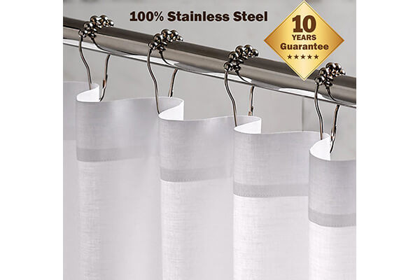 Stainless Steel Shower Curtain - $9.99
