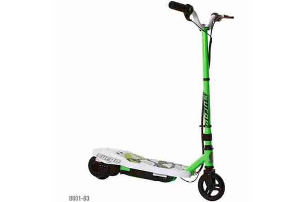 Surge Boys' 12 V Electric Scooter, Green-Children's Balance Bikes –Scooter – Electric Scooter For Bikes With Front Hand Brake