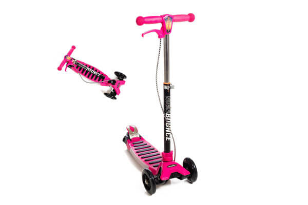 High Bounce Max Glider Deluxe Folding Scooter With T-Bar Adjustable Handle And Hand Brake