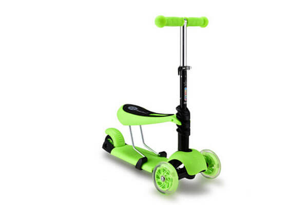 FunnyPro 3 In 1 Ride On Kick Scooter Balance Bike With T Bar For Kids