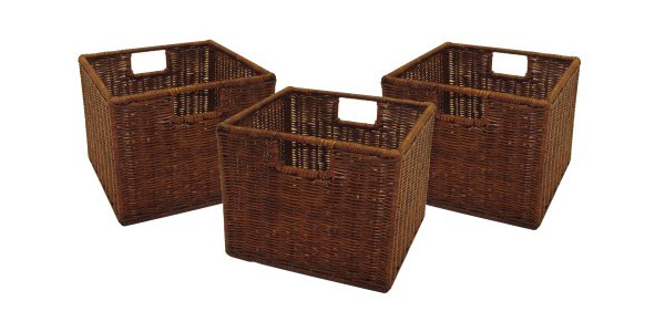 Winsome Wired Rattan Baskets