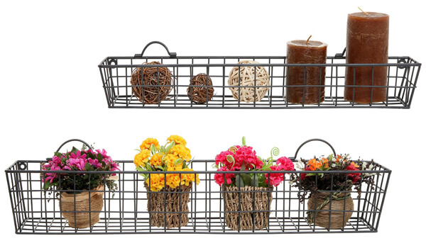 Rustic Wall Storage Basket