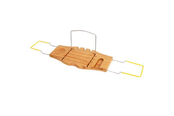 Non-Slip Bamboo Bathtub Caddy