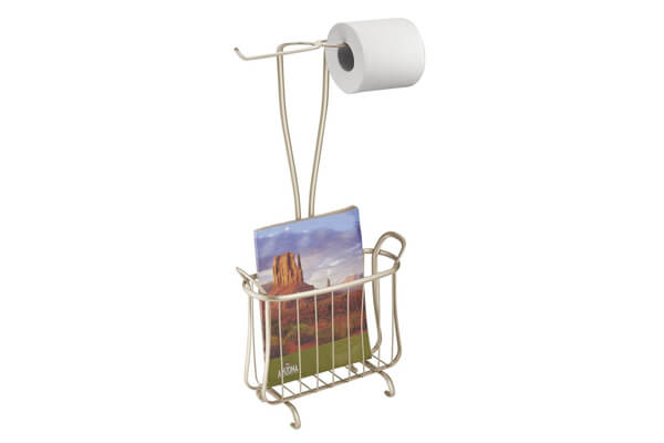 mDesign Free Standing Toilet Paper Holder