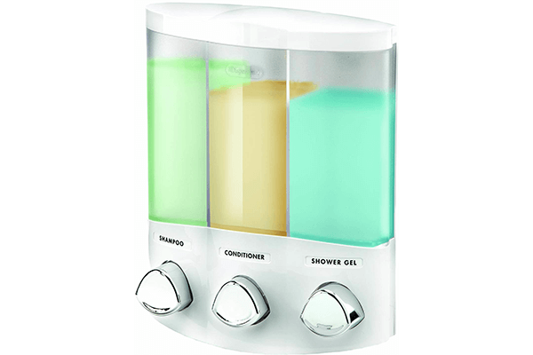 Euro Series TRIO Three Chamber Soap and Shower Dispenser