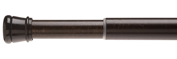 Carnation Home Fashions Adjustable 41-to-76-Inch Steel Shower Curtain Tension Rod, Bronze