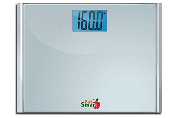 Eatsmart Precision Plus Digital Bathroom Scale with Ultra Wide Platform and Step-on Technology