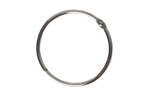 Maytex Mills Metal Circular Shower Ring In Chrome Set Of 12