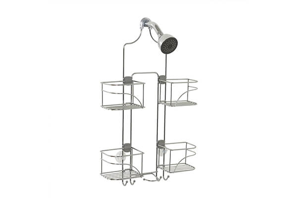 Zenna Home 7446SS, Expandable Over-the-Showerhead Caddy