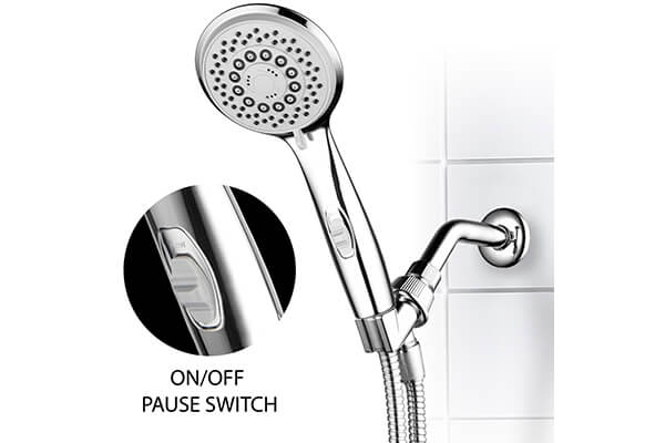 HotelSpa® High-Power Spiral 7-Setting Ultra-Luxury Handheld Shower-Head