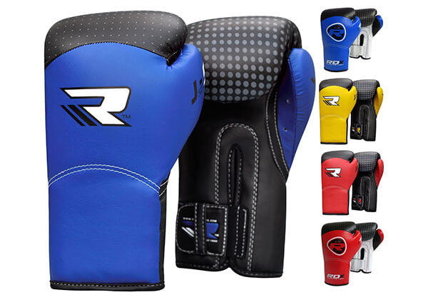 RDX Kids 6oz Maya Hide Leather Boxing Gloves MMA Training Junior Punch Bag Muay Thai Mitts