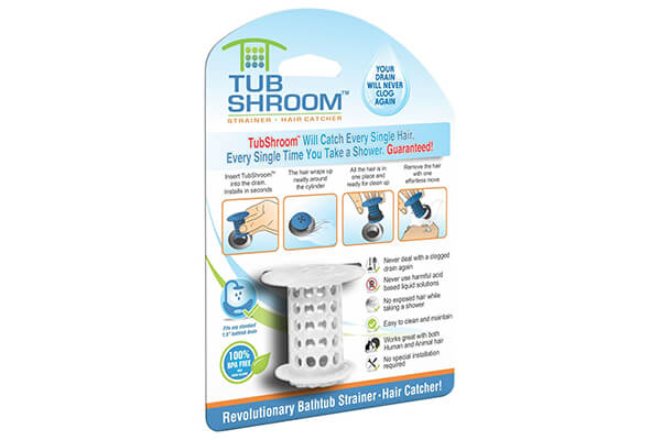 TubShroom the Revolutionary Shower Tub Drain Protector Hair Catcher