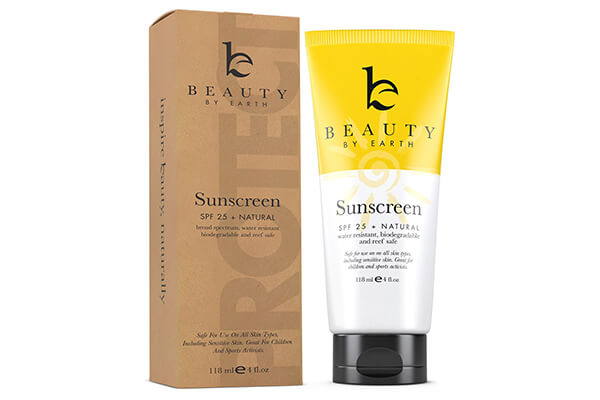 Mineral Sunscreen SPF 25 - With Best Natural and Organic Ingredients Water Resistant Sunblock