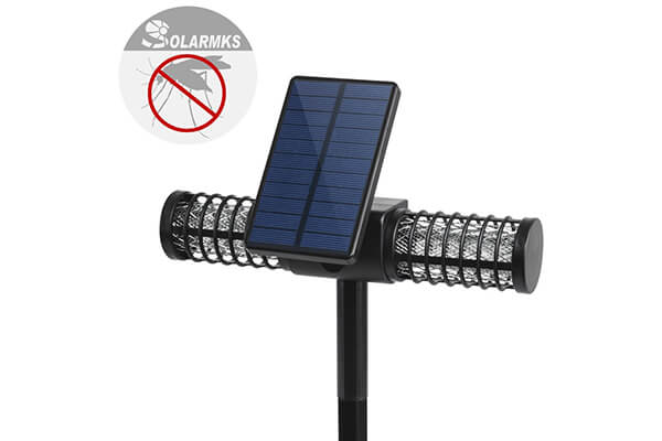 Solarmks MW-0104 Solar Bug Zapper ,with 4 LED UV Bulbs Cordless Security Outdoor Mosquito Killer