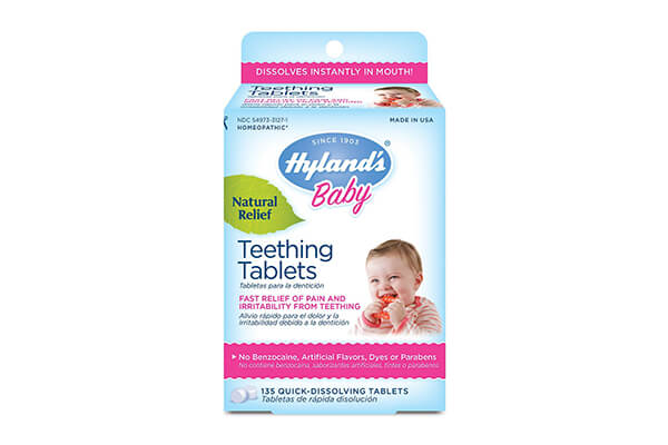 Hyland's Baby Teething Tablets, Safe and Natural Relief of Teething Pain and Irritability in Infants