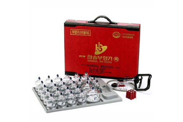 Hansol Professional Cupping Therapy Equipment 30 Cups Set with pumping handle and Extension Tube