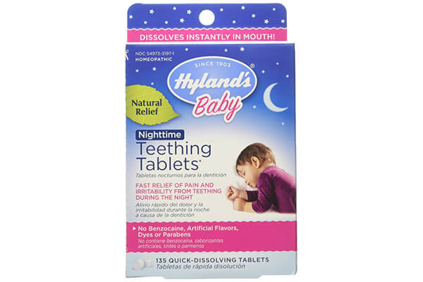 Hyland's Baby Nighttime Teething Tablets, Natural Baby Teething Pain and Irritability Relief