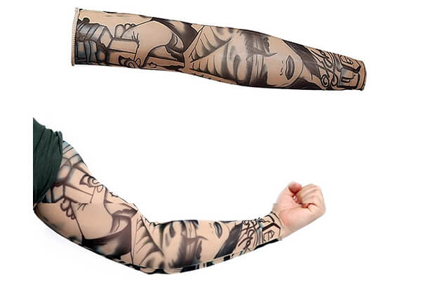 ZQXPP Z158 Tattoo Sport Arm Sleeve Cycling Sun Protective Uv Cover Arm Sleeves - 1 Pair