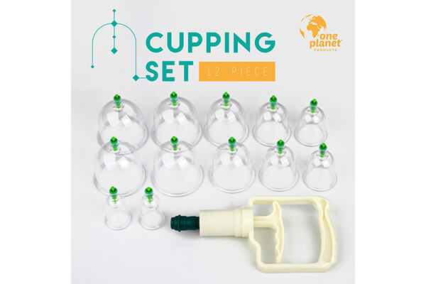 Cupping Therapy Set By One Planet, 12-Pieces