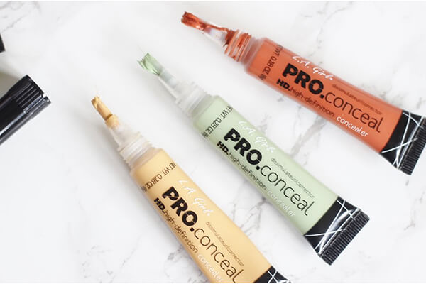 L.A Girl Pro Conceal set Orange, Yellow Green Corrections.