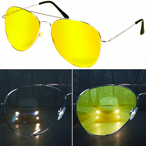 Night View NV Glasses by Natures Pillows: Virtually Indestructible, Perfect for Any Weather, Yellow Glasses Block Nighttime Glare, Reduces Eye Strain