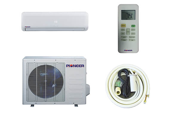 Pioneer Ductless Wall Mount Air Conditioner with Heat Pump