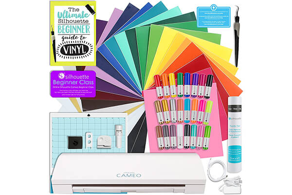 Silhouette CAMEO 3 Bluetooth Starter Bundle with 24 Oracal 651 Sheets