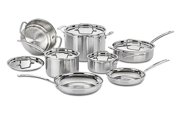 Cuisinart MCP-12N Multiclad Pro Stainless Steel Cookware Set