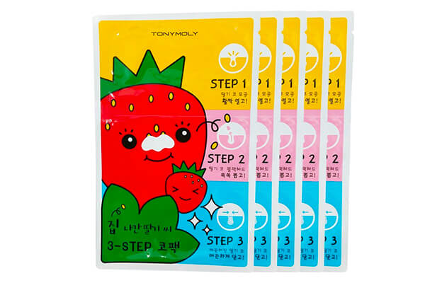 TONYMOLY Seedless Strawberry Seeds 3 Step Nose Pack