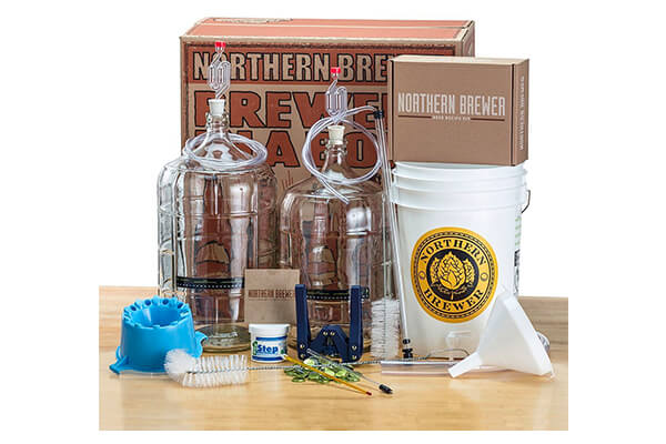 Deluxe home brewing equipment starter kit