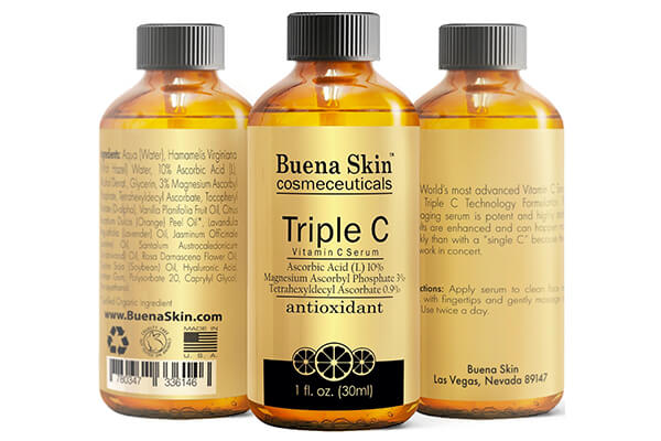 Buena Skin Triple Vitamin C Serum Anti-Aging Antioxidant