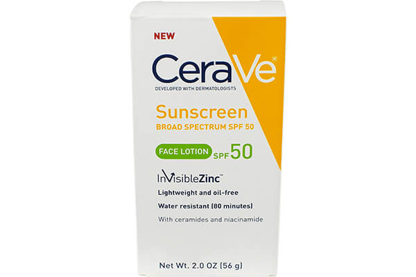 CeraVe SPF 50 Sunscreen Face Lotion