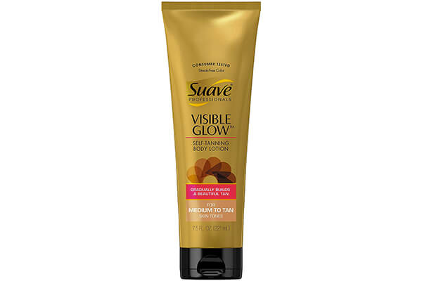 Suave Professionals Visible Glow Self Tanning Body Lotion, Medium to Tan 7.5 oz