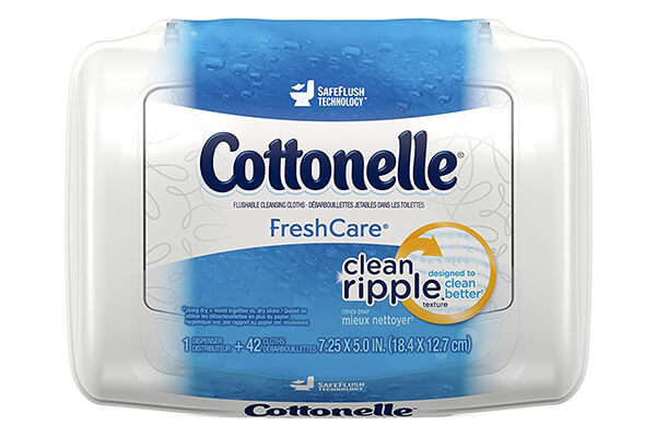 Cottonelle FreshCare Flushable Cleansing Cloths, 42 counts