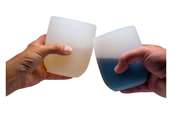 7. Jokel Silicone Rubber Unbreakable Stemless Wine Glasses, 16 oz. Set of 2
