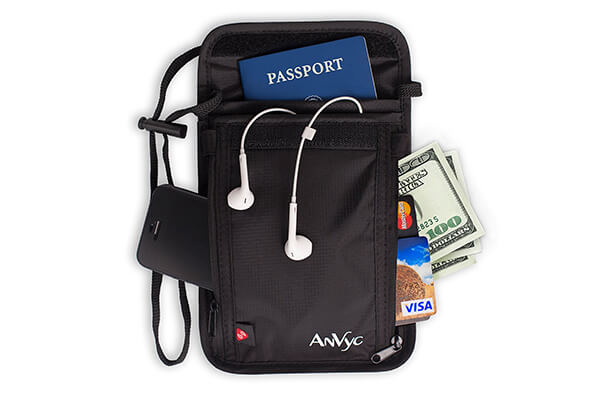 AnVyc Neck Wallet with RFID Blocking