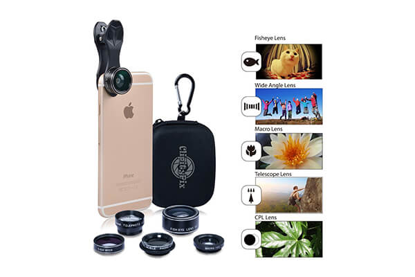 ClipityPix 5 in 1 Cell Phone Camera Lens Kit