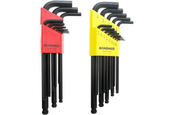 Bondhus 20199 Balldriver L-Wrench Double Pack