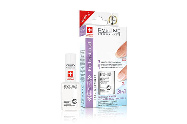 Eveline Cosmetics 3 in 1 Instantly Whiter Nails - Nail Whitener