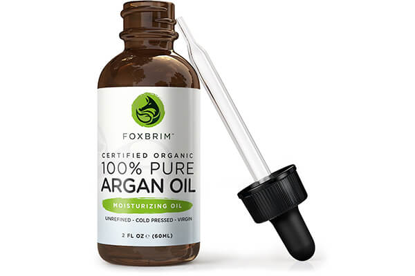 Foxbrim 100% Pure Organic Argan Oil for Hair, Skin & Nails