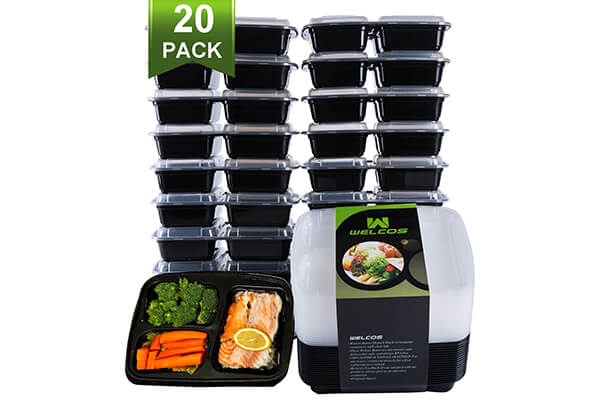 Green vege Bento Meal Prep Containers
