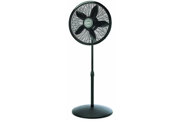 Lasko 1827 Adjustable Elegance and Performance Pedestal Fan, 18-Inch, Black