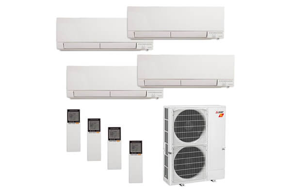 Mitsubishi MXZ-5C42NAHZ-4WF-00 - 42,000 Mount Mini Split Air Conditioner