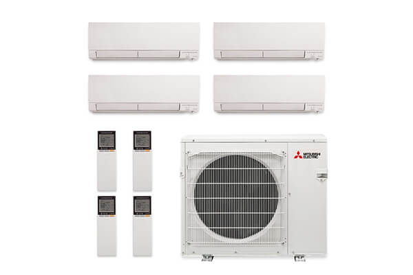 Mitsubishi MXZ-4C36NAHZ-4WF-03 Wall Mount Mini Split Air Conditioner