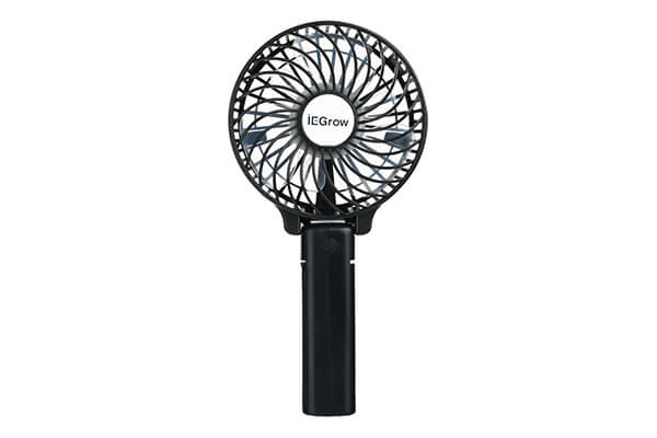 iEGrow Portable USB Mini Battery Fans with Umbrella Hanging and Metal Clip