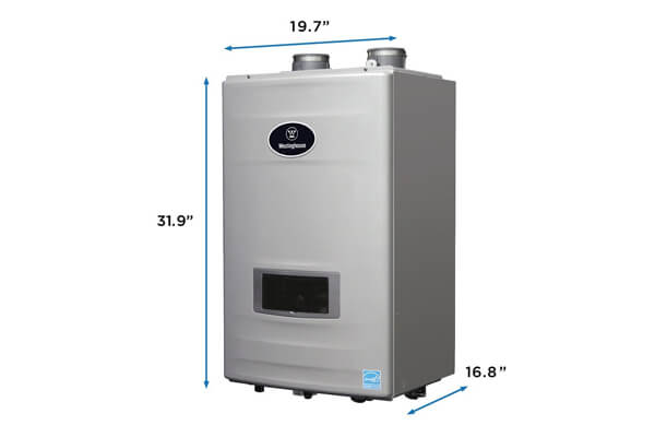 Westinghouse WGRGHNG199 11 GPM High-Efficiency Natural Gas Tankless Water Heater with Built-in Recirculation and Pump