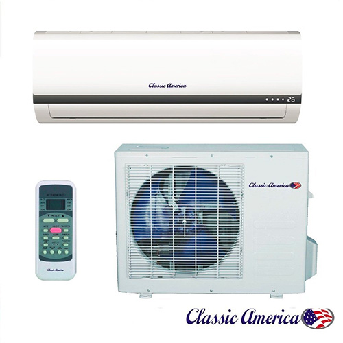 Classic America Ductless Wall Mount Mini Split Inverter Air Conditioner with Heat Pump