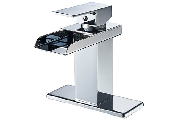 Eyekepper Modern Single Handle Waterfall Bathroom Sink Faucet